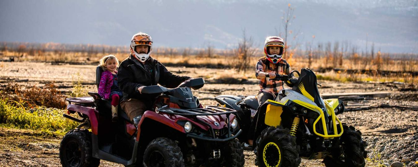 Families in Anchorage, Wasilla, and Palmer Alaska can find ATV rentals
