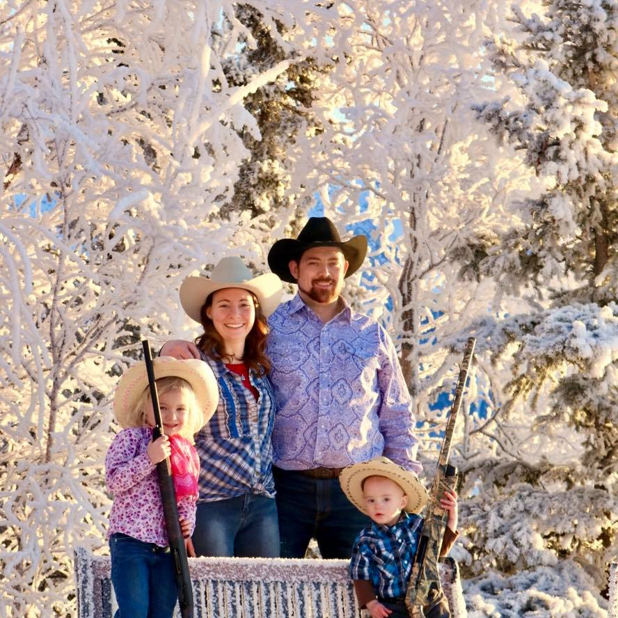 Alaska Toy Rentals owner, Israel Hale, with his family and proud to support snow machine and ATV rentals in Palmer, Wasilla, and Anchorage.