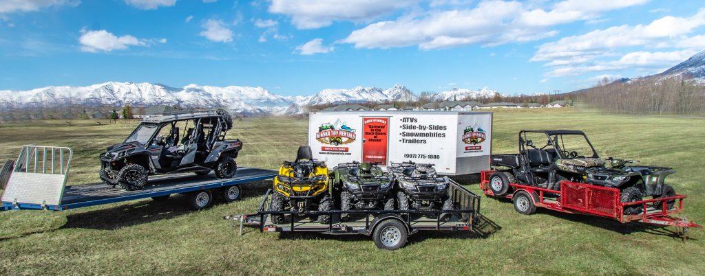 Snow machine and ATV rentals in Palmer, Wasilla, and Anchorage