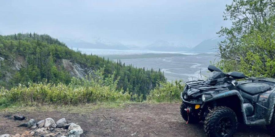 Knik Glacier Trail and Jim Creek Recreational area offer world class ATV/UTV riding